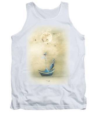 Sailing By The Moon Tank Top