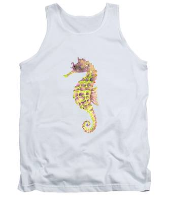Violet Green Seahorse Tank Top