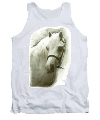 White Welsh Pony Tank Top