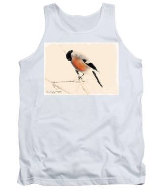 Winter Bullfinch Tank Top