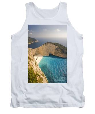 Tank Top featuring the photograph Zakynthos Beach by Juergen Held