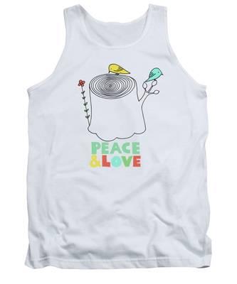 Peace Tank Tops
