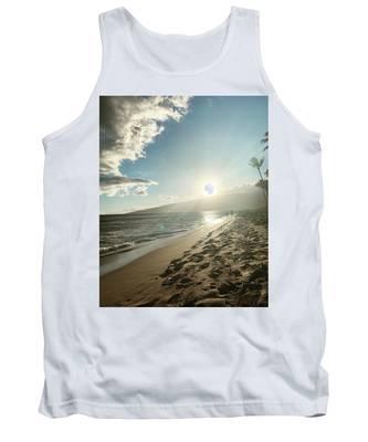 Beach Sunset Tank Tops