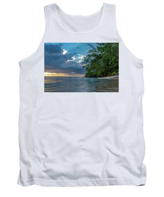 Negril Beach Sunburst At Sunset Tank Top