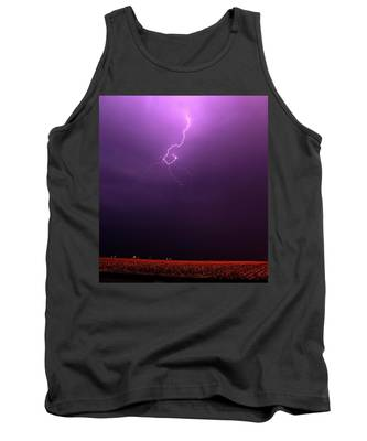 Tank Top featuring the photograph Our 1st Severe Thunderstorms In South Central Nebraska by NebraskaSC