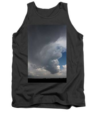 Tank Top featuring the photograph More Strong Cells Moving Over South Central Nebraska by NebraskaSC