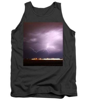 Tank Top featuring the photograph Round 2 More Late Night Servere Nebraska Storms by NebraskaSC