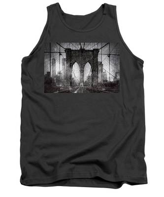 Brooklyn Bridge Snow Day Tank Top