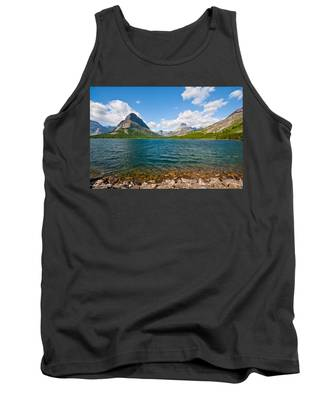 Grinnell Point From Swiftcurrent Lake Tank Top