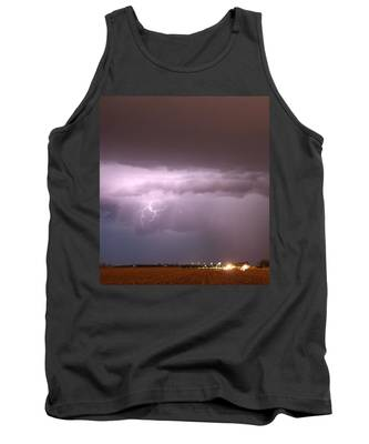 Tank Top featuring the photograph Late Evening Nebraska Thunderstorm by NebraskaSC