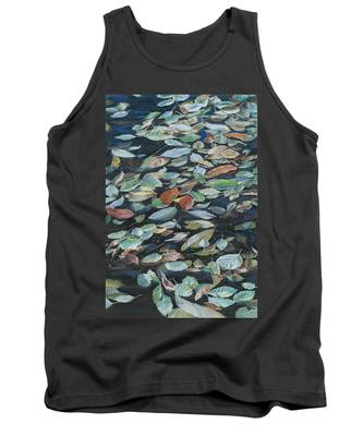 Leaves On Pond Tank Top