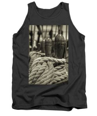 Ready For Work Black And White Sepia Tank Top