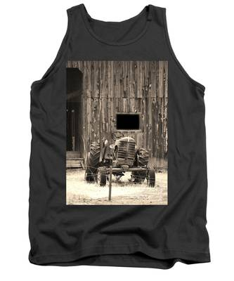 Tractor And The Barn Tank Top