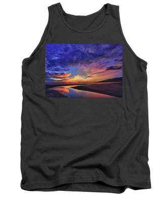 Flowing Out To The Ocean Tank Top