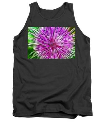 Purple Flower Fractal Tank Top