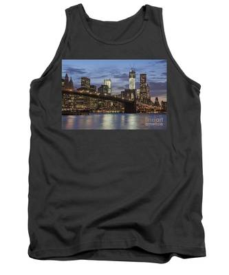 Tank Top featuring the photograph Manhattan Skyline New York by Juergen Held