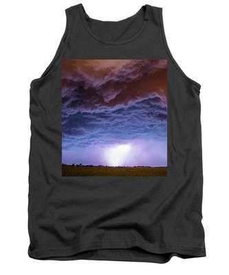 Tank Top featuring the photograph Another Impressive Nebraska Night Thunderstorm 007 by NebraskaSC