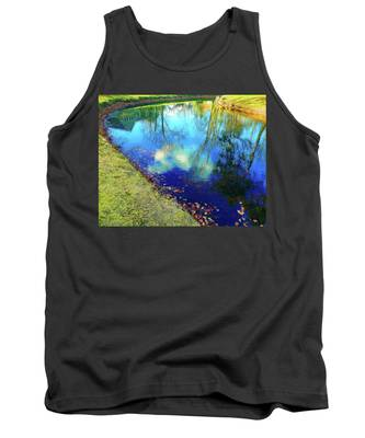 Autumn Reflection Pond Tank Top