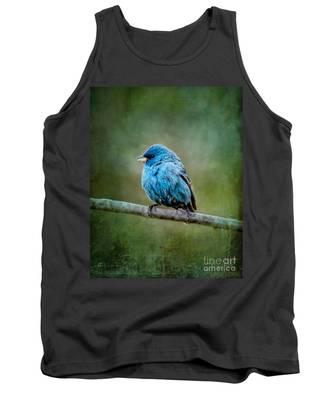 Bird In Blue Indigo Bunting Ginkelmier Inspired Tank Top