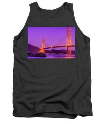 Golden Gate Bridge In The Blue Hour Tank Top