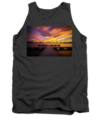 Boat Dock Sunset Tank Top
