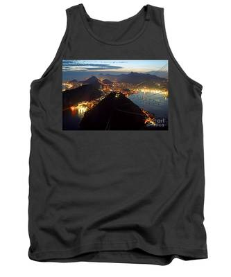 Brasil,rio De Janeiro,pao De Acucar,viewpoint,panoramic View,copacabana At Night Tank Top by Juergen Held
