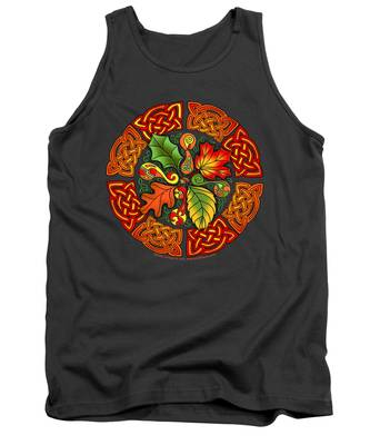 Celtic Autumn Leaves Tank Top