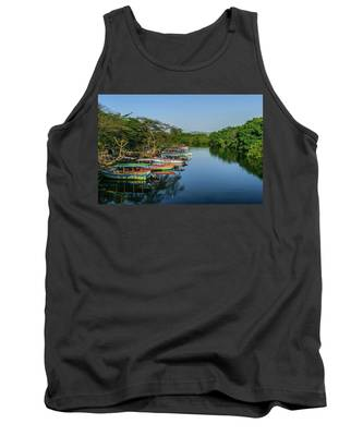 Boats By The River Tank Top
