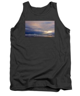 Dramatic Wave Sunrise Tank Top