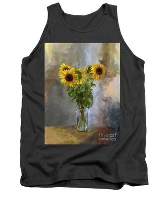 Five Sunflowers Centered Tank Top