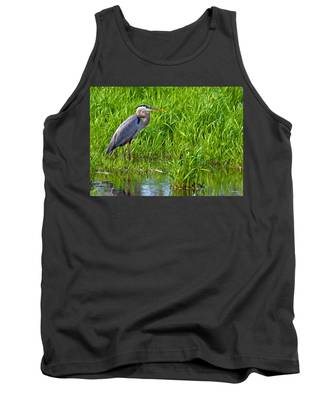 Great Blue Heron Waiting Tank Top