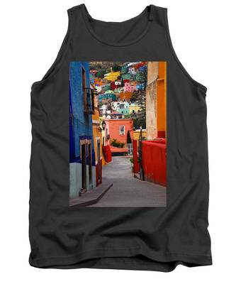 Tank Top featuring the photograph Guanajuato Lane by Skip Hunt
