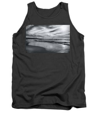 Hermosa Evening Black And White Tank Top