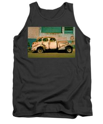 Tank Top featuring the photograph Jalopy by Skip Hunt