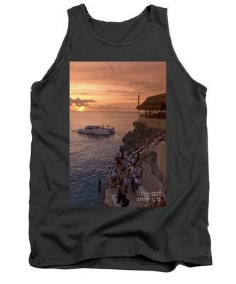Tank Top featuring the photograph Jamaica Negril Ricks Cafe by Juergen Held