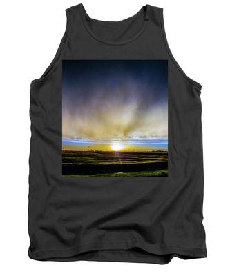 Tank Top featuring the photograph Kansas Storm Chase Bust Day 005 by NebraskaSC