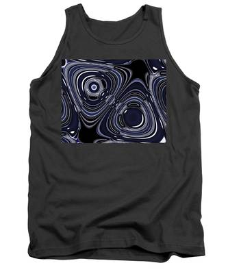 Lapis And Chrome Abstract Tank Top