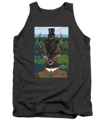 Lord Of The Manor With Hidden Pictures Tank Top
