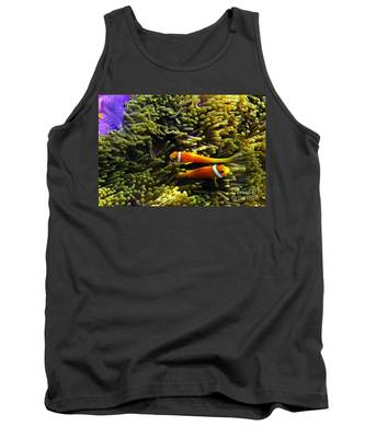 Tank Top featuring the photograph Maledives Clown Fish by Juergen Held