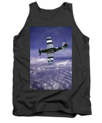 Mustang On Patrol Tank Top
