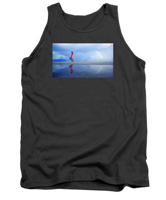 Mysterious Rainbow Girl Tank Top