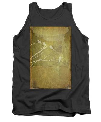 Nature Study In Gold  Tank Top