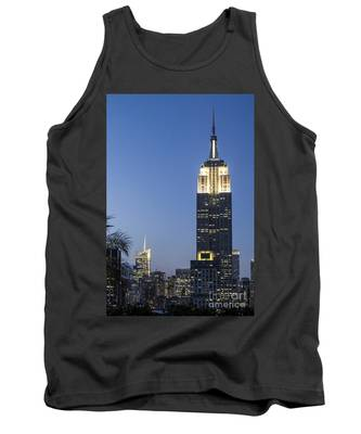 Tank Top featuring the photograph New York Empire State Building  by Juergen Held