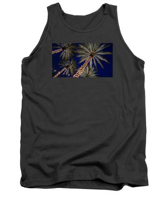 Palm Trees Wrapped In Lights Tank Top