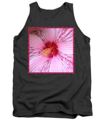 Pink Hibiscus Macro Tank Top