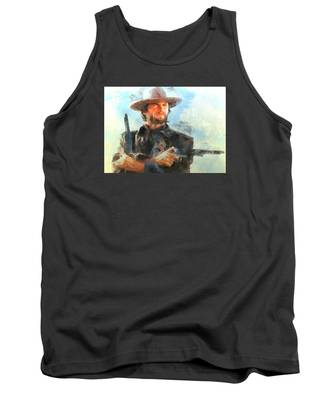 Portrait Of Clint Eastwood Tank Top