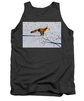 Red Fox On The Run Tank Top