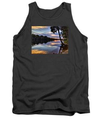 Red Tranquility  Tank Top