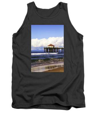 Reflections On The Pier Tank Top