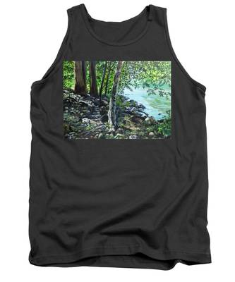 Shadows On The Bank Tank Top